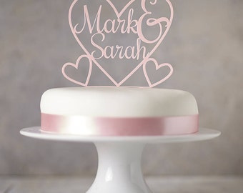 Personalised Heart Cake Topper