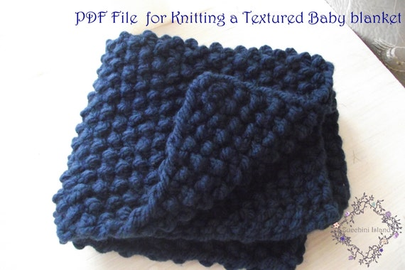 Knitting Pattern For Chunky Baby Blanket : Unavailable Listing on Etsy