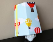 NEW!! Whimsical Hot Air Balloons in the Clouds - Night Light