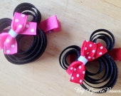Minnie Mouse Hair Clippie