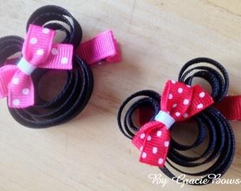 Minnie Mouse Hair Clippie