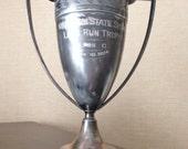 Large Vintage 1924 Silver Plate Trophy Cup