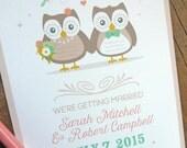 Owl Couple Wedding Save the Date, Wedding Invitations, Shower Invitations