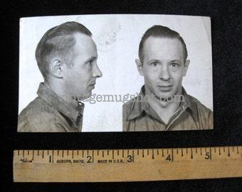 1947  Mug Shot Reading Pennsylvania Police Criminal  Musician With haunting Eyes
