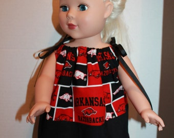"""18"""" Doll Pillowcase Dress with Hairbow"""