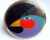 Laurel Burch Harlequin Bird - 3 Inch Large Brooch