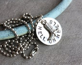 Hell On Heels Cowgirl Boot Necklace