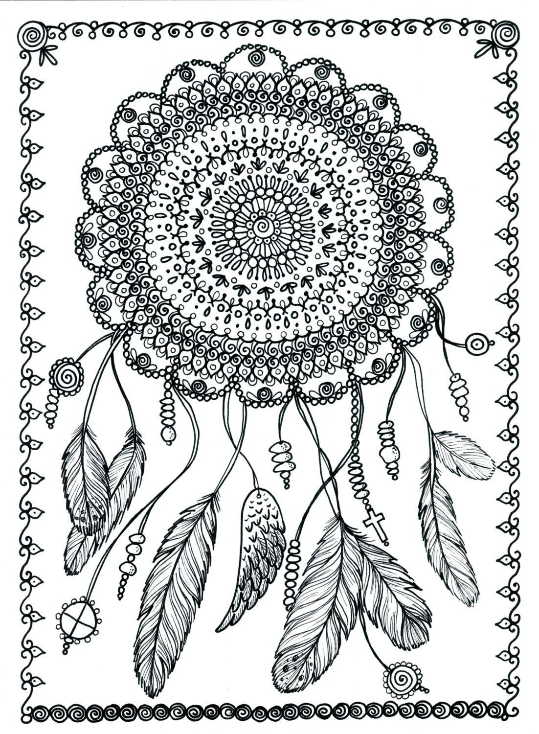 large coloring pages for adults - photo#46