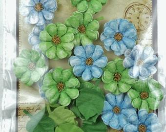 Paper Flowers - Boutique Elements Mini Lantana Bubble Gum Scrapbooking Flowers Assortment, Cards, Invitations, Journals, Mixed Media