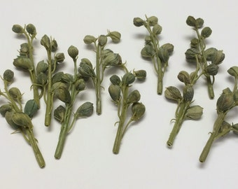 Artificial Flowers One Lot of 10 Delphinium Buds on Stems