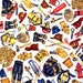 Half yard Fireman Fabric , All Geared Up , RJR