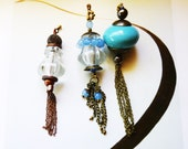 Tassel Dangle Light/ Fan Pull, handmade by gviolet, unique light pull, The Dangle Collection