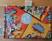 Comic Heroes  Eco Friendly Snack Bag by Seweco/Easy Open /Child Friendly Tabs/FOOD SAFE