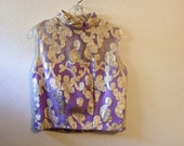 1960s lavender and silver party top