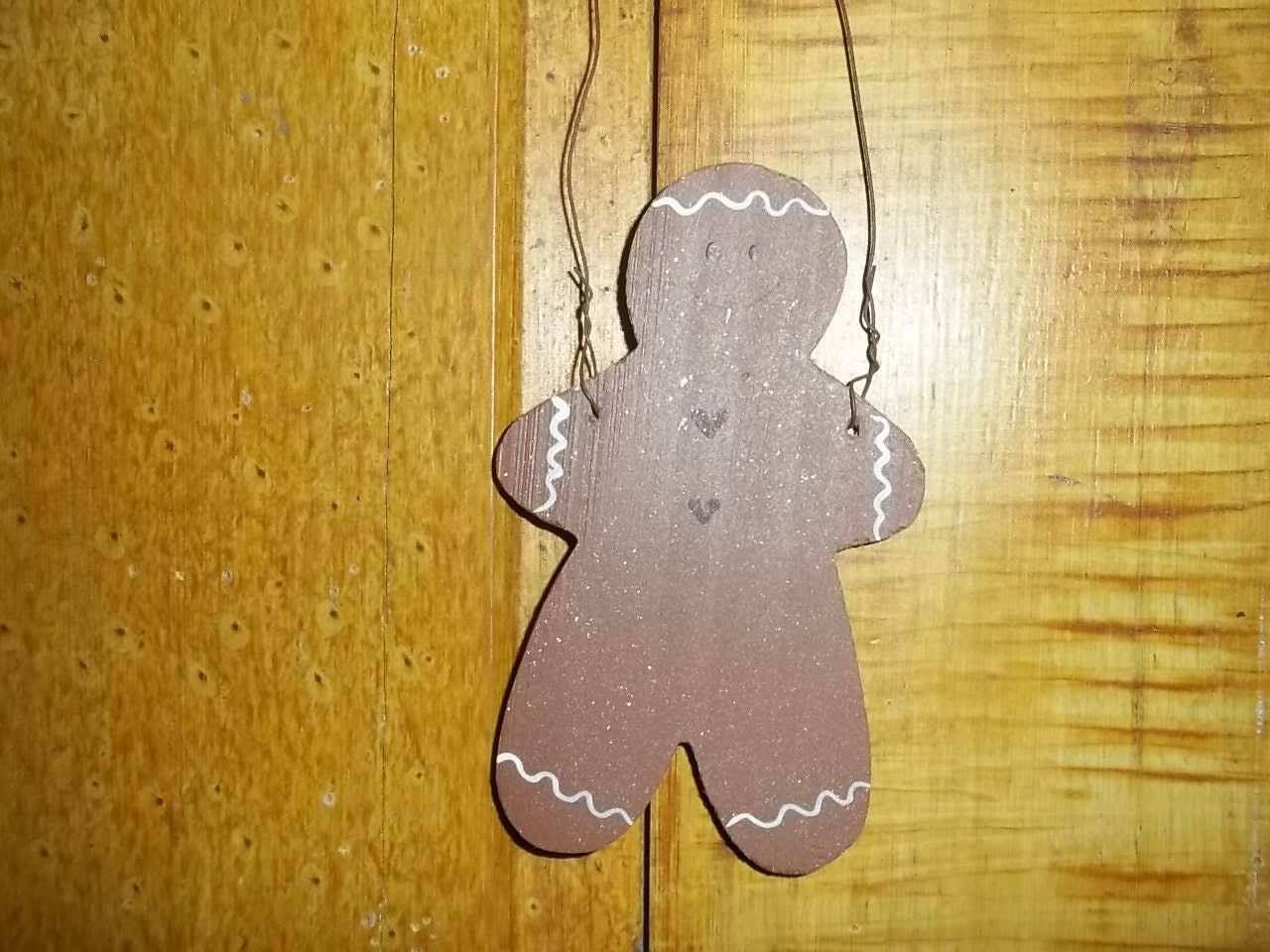 Hand Painted Gingerbread Man Ornament etsy 242