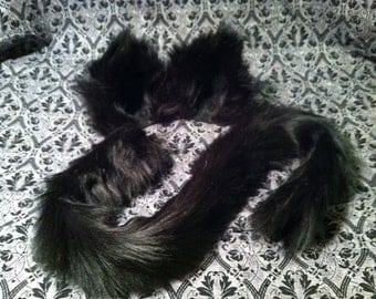 Fuzzy Black or White Cat Ears and / or Tail