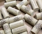Craft Corks - Sun Letter M Design - Synthetic Wine Corks - wine cork crafts - DIY supply - recycled corks