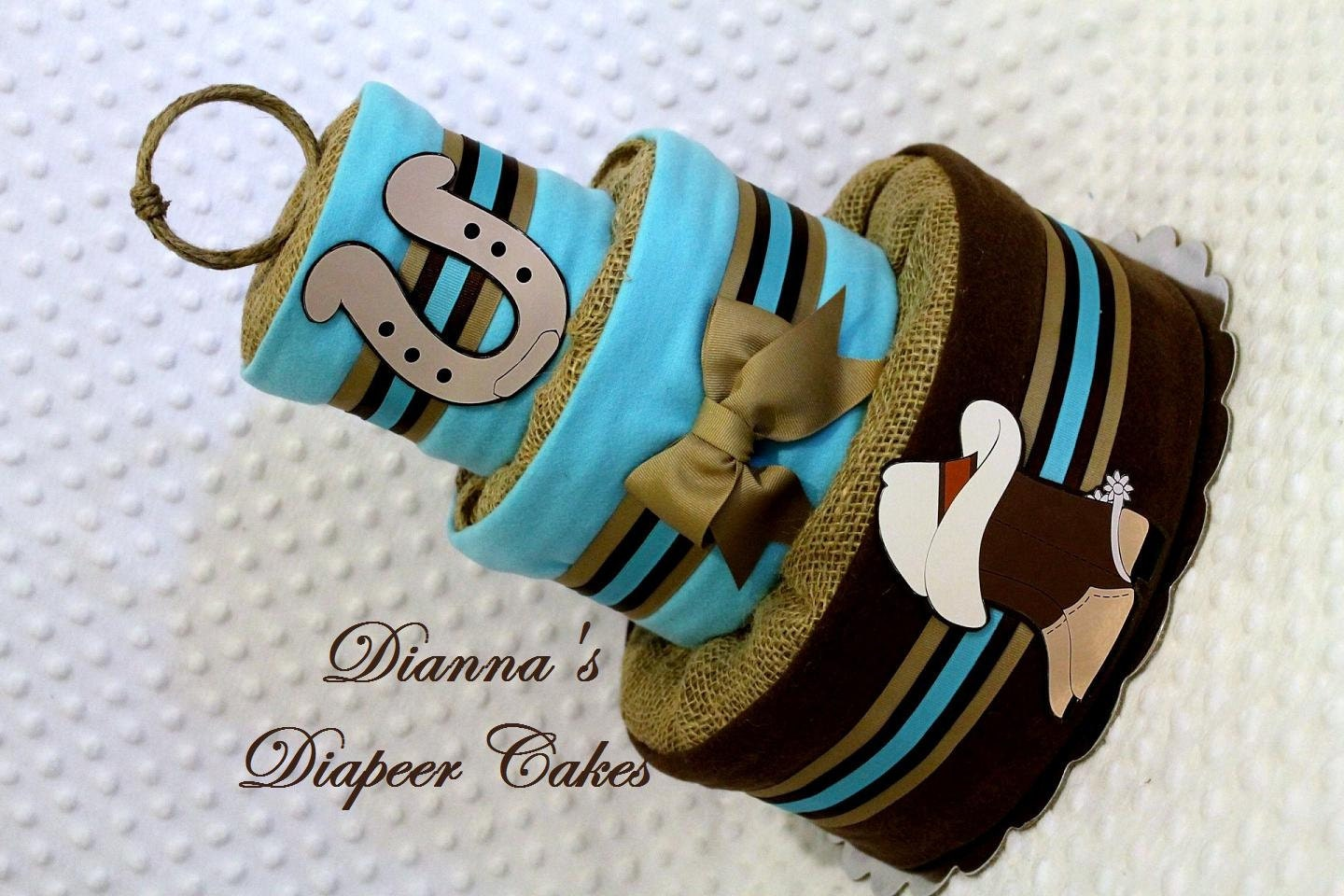Country Baby Diaper Cake Western Cowboy by Diannasdiapercakes