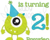 Birthday Iron on Transfer Party Monsters Monster Birthday iron on Heat Transfer Little Boy Birthday Personalized 1st birthday 2nd birthday