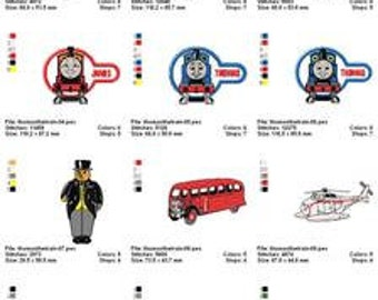 thomas the tank engine machine embroidery designsinstant download