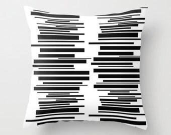 White Throw Pillow, Fun Throw Pillow, Modern Throw  Pillow, Funky Pillow,  Mid Century Modern Pillow, Retro Throw Pillow, Fun Cushion