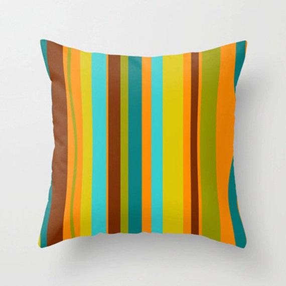 Modern Striped Throw Pillow Cover Mid Century Modern Throw