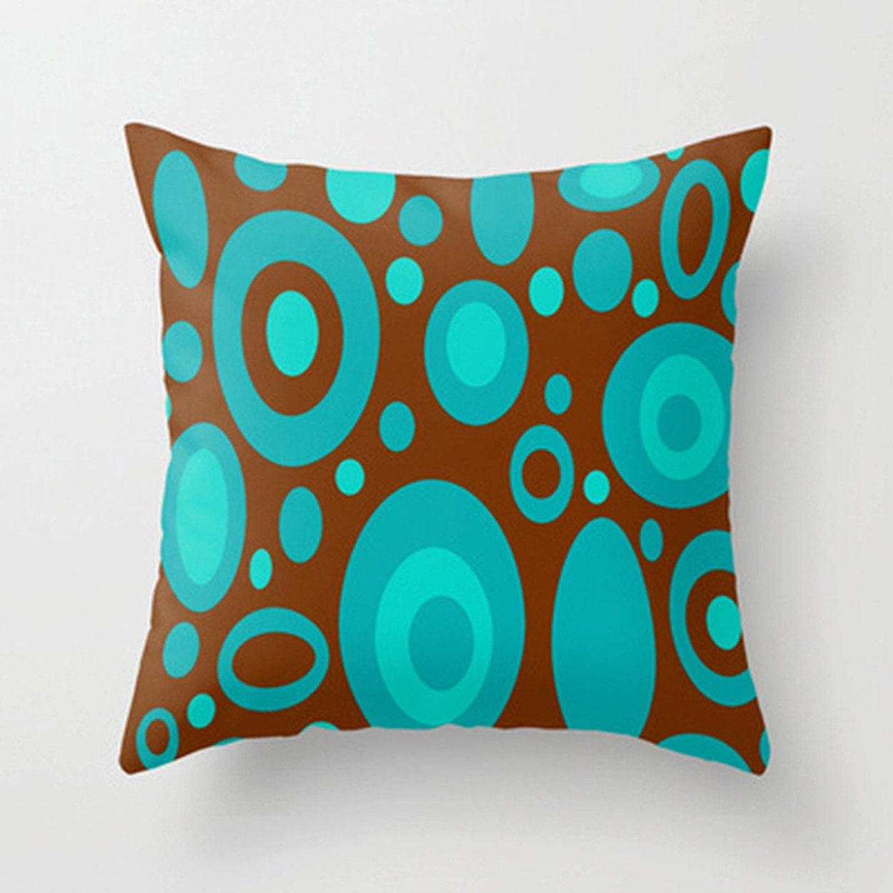 Modern Throw Pillow Cover Modern Pillow Cover Brown