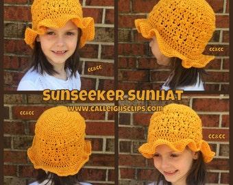 Instant Download Crochet Pattern No. 115 - Sunseeker Sunhat