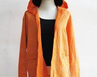 J2, Orange Comfort Hood Orange Cotton Jacket