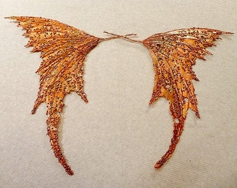 Fairy Wings-Copper Iridescent-Dolls and Bears (Made to order by Request)