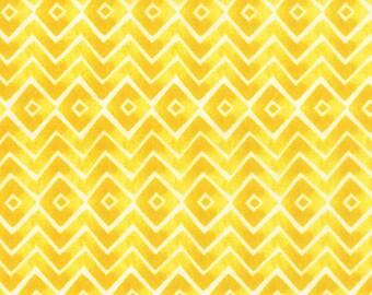 Fleurologie - Zig Zag Chevron in Sunshine by Stephanie Ryan for Moda Fabrics