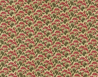 Winterlude - Berry Blossoms in Parchment by 3 Sisters for Moda Fabrics