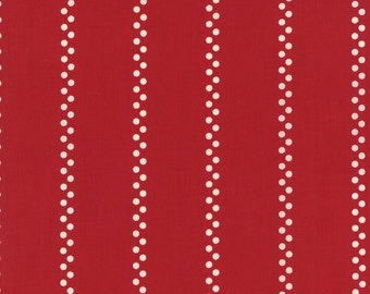 A la Carte - Bistro Stripe in Red by American Jane for Moda Fabric