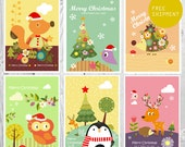 Set of 6 Xmas cards