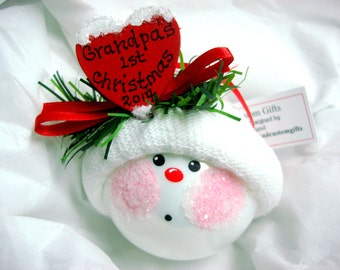 Grandpa's 1st Christmas 2017 Ornament Townsend Custom Gifts Sample