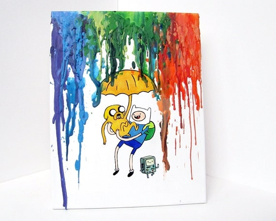 Reserved Listing for Anna Moy - 2 Adventure Time Paintings
