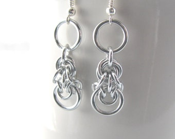 Morgaine Chainmaille Earrings - Avalon Collection