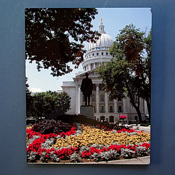 Metal Print Wisconsin Capitol Building Photo Madison Gift