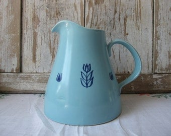vintage  cronin blue pitcher