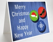 Christmas Holiday Card, Merry Christmas and Happy New Year