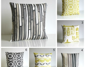 Decorative Pillow Cover, 10x10, Gray Pillow Cover, Grey cushion cover, pillow sham, accent pillow cover - Neutral and Citrus Collection