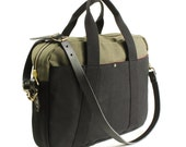 CB Briefcase - Black and Moss