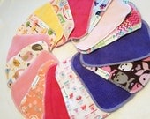Cloth Baby Wipes, Family Cloth, Reusable Wipes, Assorted Girl Prints, Pack of 50 Cloth Wipes