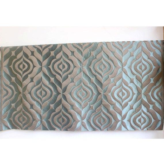 Teal Dreams Curtain Fabric Upholstery Fabric Curtain