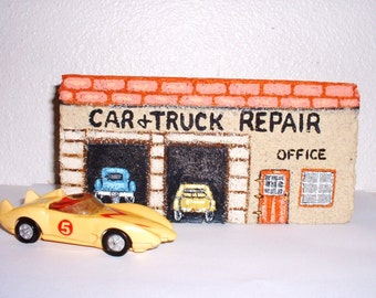 AUTO and TRUCK REPAIR Shop Hand Painted Brick