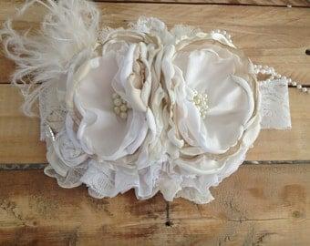 Whipped Marshmallow Cream headband
