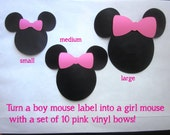Pink, Red, or Berry Bows to add to Mouse Labels