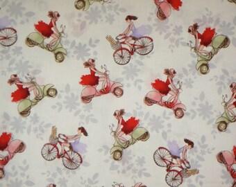 Cute Ciao Bella Print Pure Cotton Fabric--One  Yard