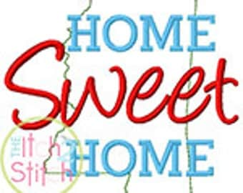 Home Sweet Home Mississippi Embroidery Design For Machine Embroidery INSTANT DOWNLOAD now available