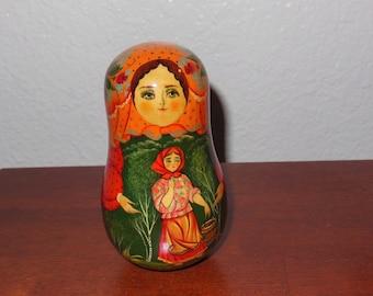 Musical Nevalyashka Rolly Polly Bell Russian doll Matreshka